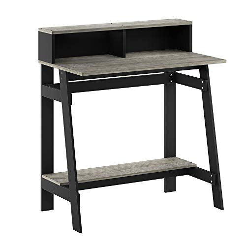 Furinno Simplistic A Frame Computer Desk, Black/French Oak Grey
