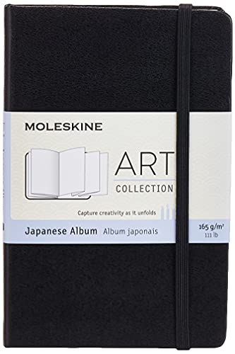 Moleskine Art Japanese Album, Hard Cover, Pocket (3.5' x 5.5') Plain/Blank, Black, 60 Pages