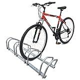 VOUNOT Soporte para Aparcar 4 Bicicletas, Aparcamiento Estacionamiento para Bicis, Suelo y Pared Montaje, Interior y Exterior