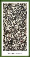ポスター ジャクソン ポロック Enchanted Forest 1947 額装品 ウッドベーシックフレーム(グリーン)