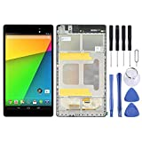 JINGZ LCD Screen and Digitizer Full Assembly with Frame for Asus Google Nexus 7 2nd 2013 ME571KL (WiFi Version) (Color : Black)