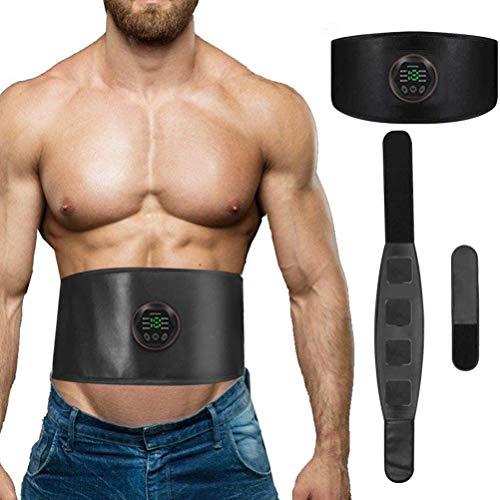 Uyuke ABS Trainer Muskelstimulator Elektronische Toning Gürtel Workout Home Fitness mit USB Wiederaufladbar 6 Modi 15 Intensität EMS Muskelstimulator Fitness Training Fitness Workout