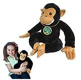 EcoBuddiez - Scimpanzé di Deluxebase. Morbido Peluche di 30cm Realizzato con Bottiglie di plastica riciclate. Adorabile Regalo Ecologico per Bambini e Morbido animaletto Giocattolo per Neonati.