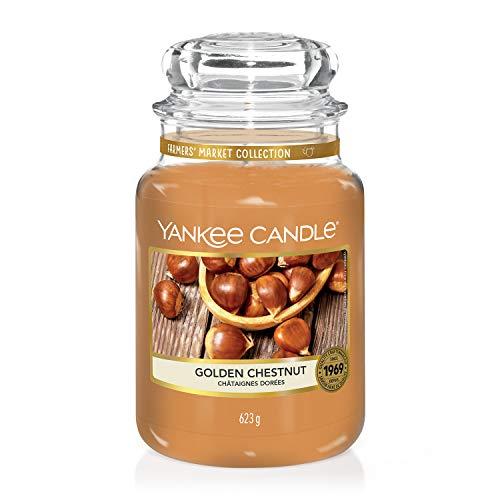 Yankee Candle, große Duftkerze im Glas, Golden Chestnut, Farmers' Market Kollektion