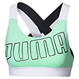 Puma Feel It W Mid Impact Sujetador Deportivo, Mujer, Verde (Green Glimmer White), S