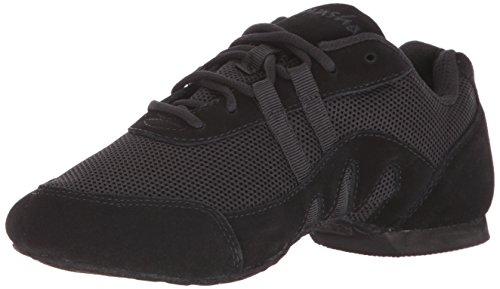 SANSHA Salsette 3 Jazz Sneaker,Black,8 (7 M US Women's)