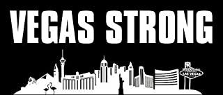 GHaynes Distributing VEGAS STRONG Skyline Sticker Decal(love las nevada 3 x 7 inch
