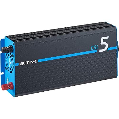 ECTIVE 500W 12V zu 230V Reiner Sinus-Wechselrichter CSI 5 mit Batterie-Ladegerät, NVS und BVS