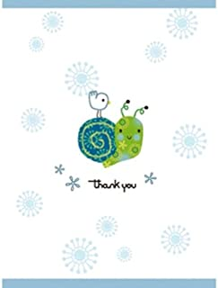 C.R. Gibson 10 Count Thank You Notes Box, Snail (Discontinued by Manufacturer)