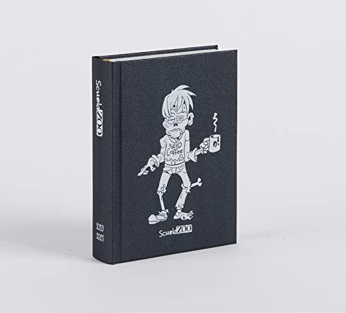 ScuolaZoo Diario 2020-2021 Datato 16 Mesi Limited Edition, Classic 11x15 cm (Nero Metallizzato)