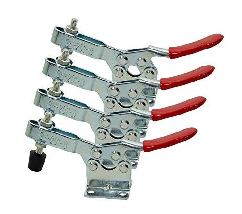 Pull Verriegelung - COLJOY Quick Release Metall Horizontal Schnellspanner Toggle Clamp Werkzeug - 90 kg 198lbs Fassungsvermögen 4pcs
