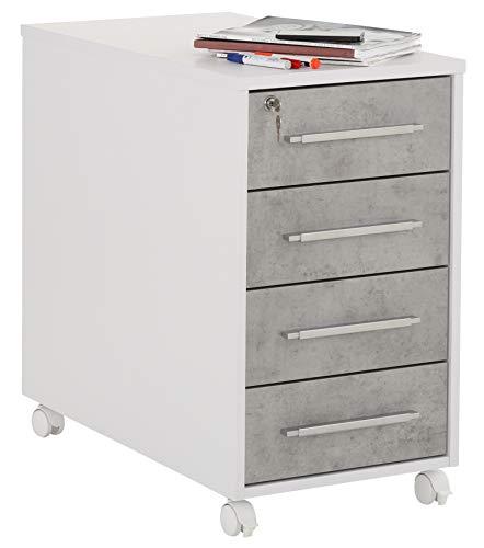 MAJA Möbel Anstell-Rollcontainer, Holzwerkstoff melaminharzbeschichtet, One Size