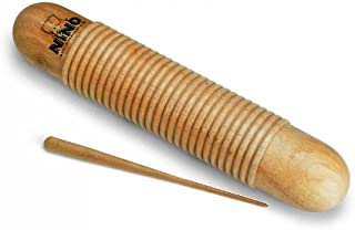 Nino Percussion Kids' Wood Guiro with Scraper - NOT MADE IN CHINA - For Classroom Percussion Music or Playing at Home, 2-YEAR WARRANTY (NINO555)