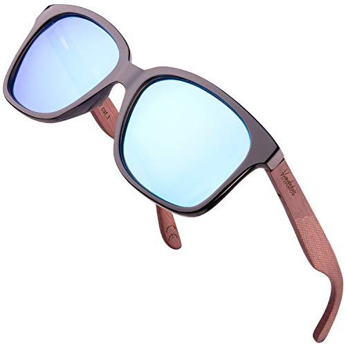 Verdster Lyon – Gafas de Sol Polarizadas de Madera para Hombre y Mujer con Patillas de Secuoya