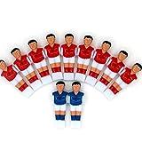 PEIRUK Juego de Mesa de fútbol para Hombre de 4 Piezas, reemplazo de Jugador de fútbol, Mini muñecas de fútbol para niños, Juguete de la Copa del Mundo para niños, Rojo y Azul
