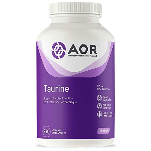 AOR - Taurine 270 Capsules - Supports Cardiac Function