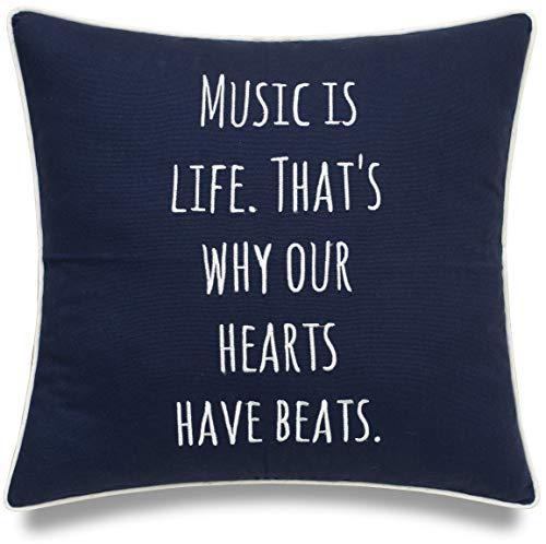 Decorative Music Throw Pillow