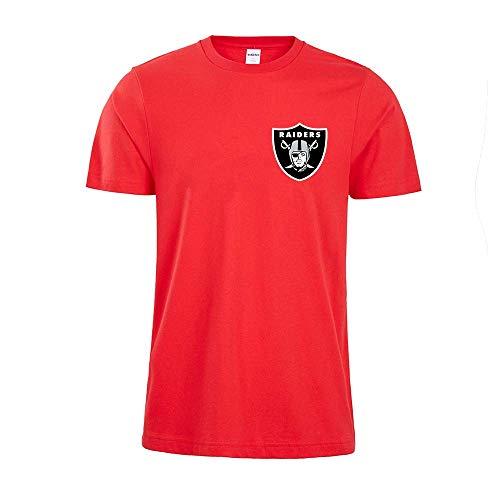 Camisa 3d De Los Hombres Oakland Raiders Nfl Digital Impresión De La Camiseta Patrón Impreso Camiseta(Size:METRO,Color:rojo)