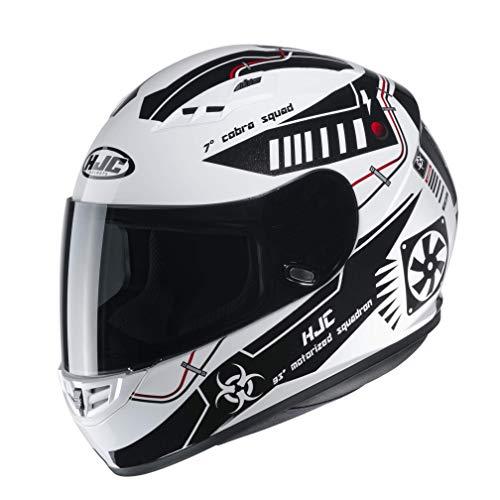 Casco moto HJC CS 15 TAREX MC10, Bianco/Nero, M