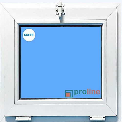(V71M) VENTANA PVC BLANCA 500x500 ABATIBLE (GOLPETE) VIDRIO MATE CLIMALIT CARGLASS