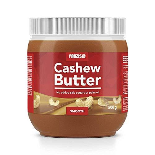 Prozis Cashew Butter 500g - Textura Deliciosa y Cremosa - Fuente Natural de Proteína - Apto para Veganos, Dietas Kosher y Halal - Sin Lactosa, Sal, Azúcar o Aceite de Palma