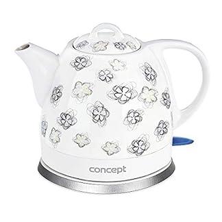 CONCEPT-Hausgerte-RK0010ne-Keramik-Wasserkocher-Einzigartiges-Design-attraktivem-Blumendesign-1-L-Wei-1100-W