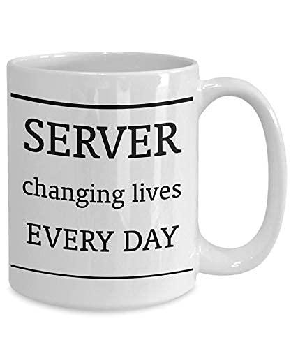 AOOEDM Regalo para el servidor taza de regalo del servidor taza de café regalo para el servidor taza para el servidor taza de café para el servidor taza de café para el servidor