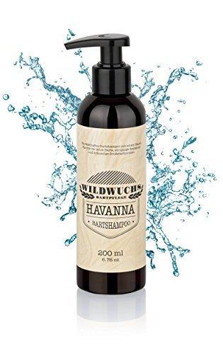 Bartshampoo HAVANNA von Wildwuchs Bartpflege - Bartseife Bart Shampoo Beard Wash reinigt schonend und natürlich (1 x 200 ml)