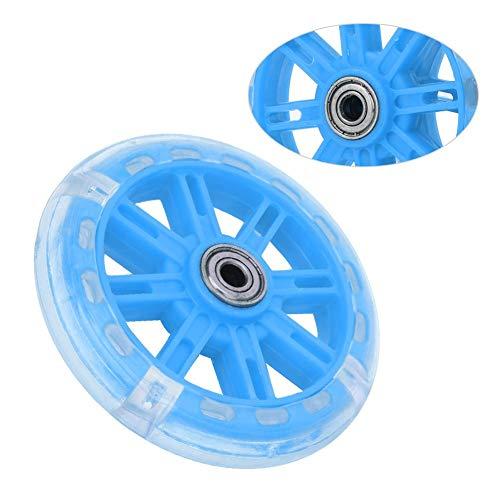 Alomejor Kinderfahrrad Stützräder LED Leuchten Fahrradstabilisatoren Stützräder Ersatz für 12-20 Zoll Kinderfahrrad(Blau) - 5