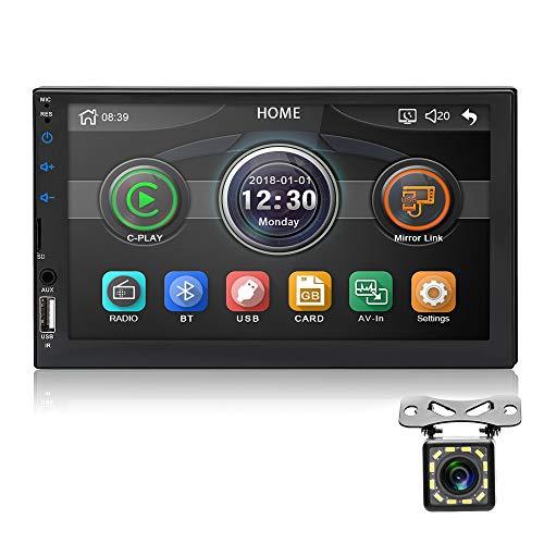MiCarBa Autoradio 2 DIN 7 inch HD supporto stereo per auto Android mirrorlink con telecamera di retromarcia (CL7049D)