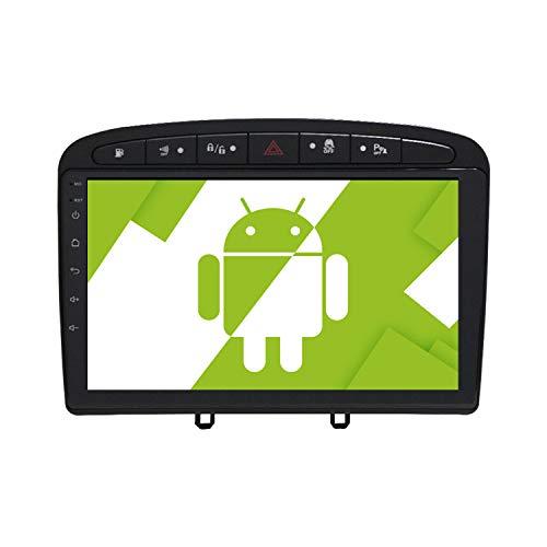 AOTSR 9 Pulgadas Android 10.0 Radio de Coche para Peugeot 308 2007 2008 2009 2010 2011 2012 2013, Reproductor Multimedia Autoradio, Pantalla Táctil HD, Navegación GPS, WiFi, Bluetooth, DSP, Carplay