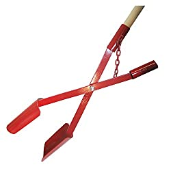 Erdlochschaufel 11-28 cm Gr.1 Lochspaten Erdlochausheber Erdlochheber Handbagger Lochschaufel handlochschaufel mit 2 Stück Hartholzstiele