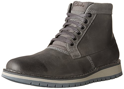 Clarks Women's Varby Top Ankle Boot, Dark Grey Leather, 10.5