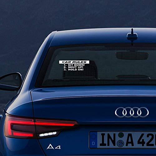 etiqueta de la pared pegatina de pared frases Calcomanías de reglas de coche de 18 cm x 6,5 cm Camión de coche cerrado JDM Racing Calcomanía de ventana Estilo Divertido Est