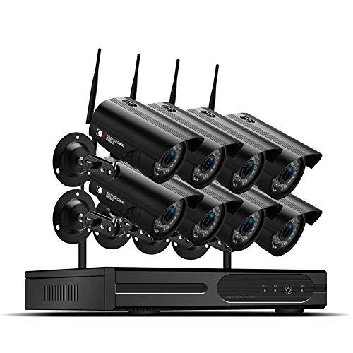 HYLH 8CH HD Video Uuml;berwachungskamera System 1TB Festplatte DVR Recorder mit 8 Outdoor 2 MP Haus Sicherheit Kamera Set, Nachtsicht, P2P,Bewegungserkennung