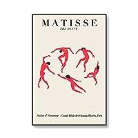 マティス抽象美術展のポスターとプリントウォールアート写真現代の家庭フレームレス装飾キャンバスの絵画 5番 50x70cm