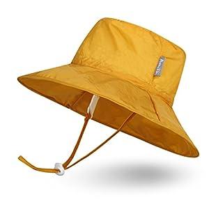 Ami&Li tots Super Lightweight Child Adjustable Ultrathin Sunhat for Baby Girl Boy Kids Toddler UPF 50 - S: Yellow