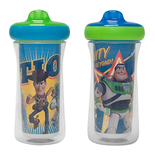 Disney/Pixar Toy Story ImaginAction Insulated Hard Spout Sippy Cups 9 Oz - 2 Pack