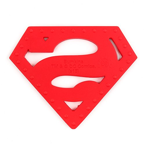 Product Image 4: Bumkins Silicone Teether, DC Comics Textured, Soft, Flexible, Bacteria Resistant – Superman