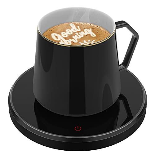 Smart Coffee Warmer for Desk, Coffee Mug Warmer with Auto Shut Off, ANBANGLIN Coffee Cup Warmer for Coffee Milk Tea, Candle Wax Cup Warmer Heating Plate, Great Gift (NO MUG)
