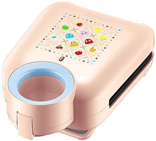 GJJSZ Sandwichera,220V-650W,desayunadora multifunción,gofres,con Plato Antiadherente extraíble,asa fría,Apto para lavavajillas-Pink20 (Tamaño:Azul) 20 (Tamaño:Pink) xiao1230 (Tamaño:Pink)