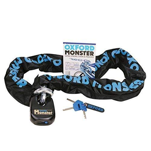 OF802 Oxford Monster - Catena con Serratura, 1,5 m