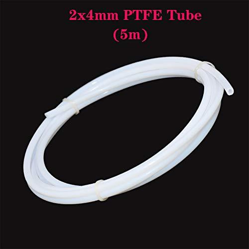 PoPprint, tubo Bowden in Teflon e PTFE da 2 metri (diametro esterno: 4,0mm; diametro interno: 2,0mm), filamento da 1,75 mm, per stampante 3D, 5m, 1