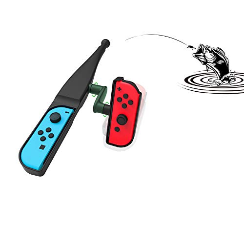 TwiHill Small handle fishing rod suitable for Nintendo Switch Joy-Con, Nintendo Switch game console accessories, fishing rods