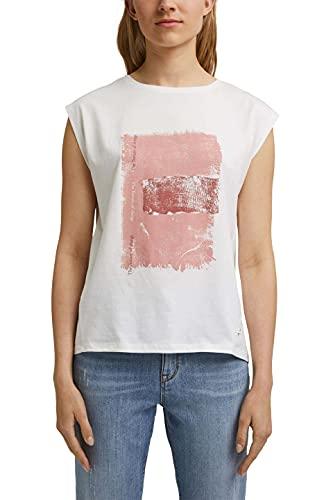 edc by Esprit 071CC1K317 Camiseta, 110/blanco Roto, L para Mujer