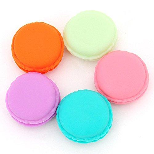 Susenstone 6 PCS Minikopfhörer-SD-Karte Macarons Tasche Aufbewahrungsbehälter-Kasten Tragetasche