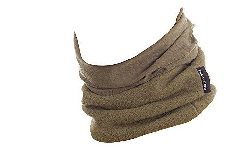 Hilltop Polar Multifunktionstuch mit Fleece, Motorrad Halstuch/Schlauchschal/Ski Gesichtsmaske/TOP Farben, Farbe Polar Tuch:oliv uni