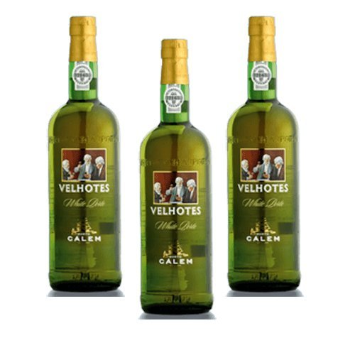 Vino de Oporto Calem Velhotes White - Vino Fortificado- 3 Botellas