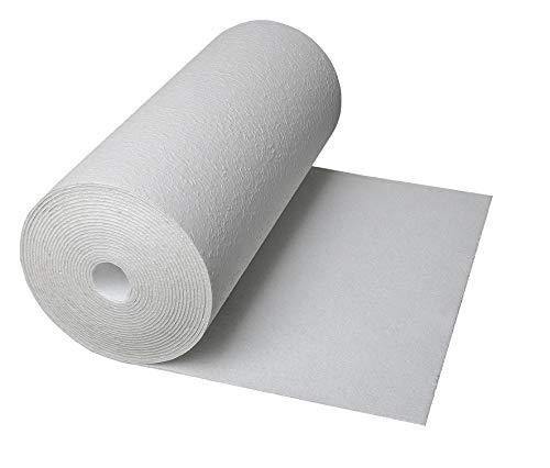 CLIMAPOR weiße Dämmtapete rauhfaserkaschiert, 7,5 x 0,5 m x ~ 4 mm, 2 Rollen (= 7,5 qm), EPS - Innenraum-Dämmung - Isoliertapete