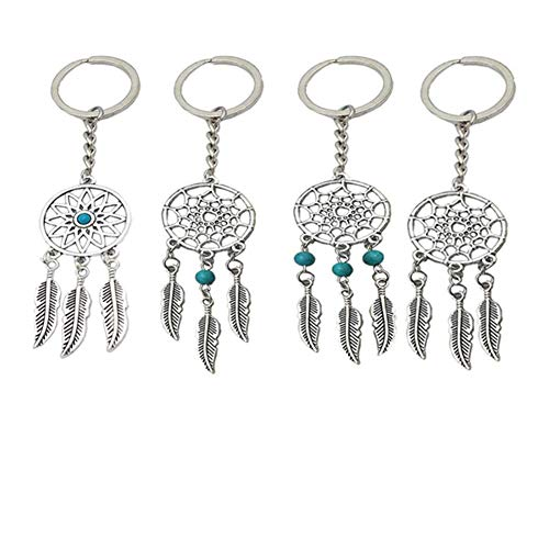 BESTZY Atrapasueños Llavero 8pcs Dream Catcher Keychain...